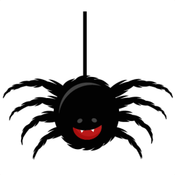 spider clipart cute transparent halloween clip svg cut background bugs pngmart miss cuttables kate icon misskatecuttables