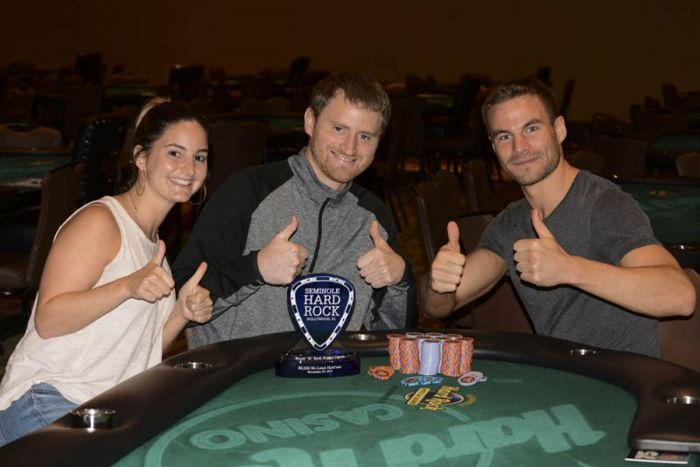 David Peters wins event at 2017 Rock 'N Roll Poker Open.