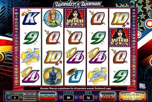 wonder woman slot machine free spins