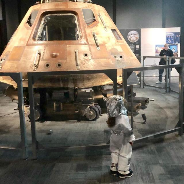 There was an astronaut ‍ enjoying the Destination: Moon  exhibit with us last Sunday