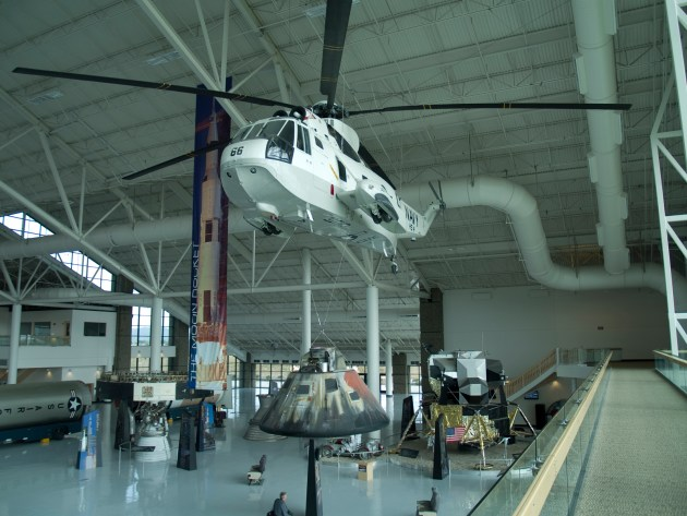 Gemini Capsule carried by a rescue helicopter