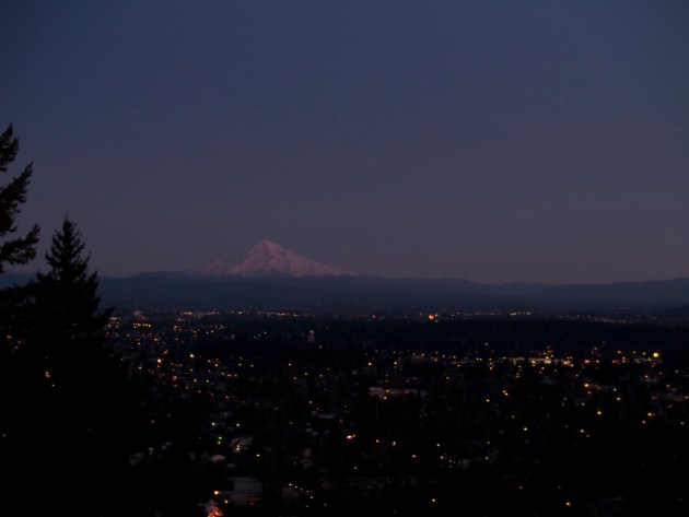 Mt. Hood at Sunset from Portland Oregon