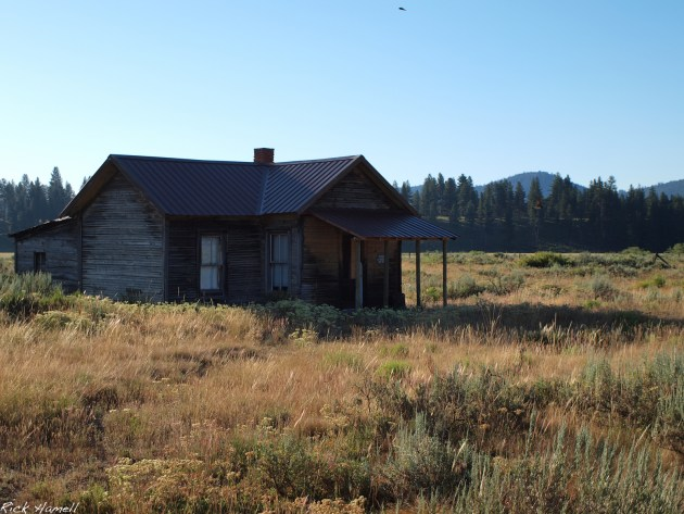 One of the abandoned homes in Whitney Oregon