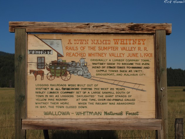 Whitney History Sign
