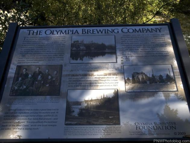 The Olympia Brewery Company History Sign