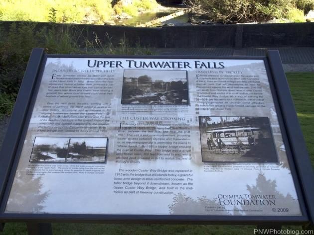 Upper Tumwater Falls History Sign