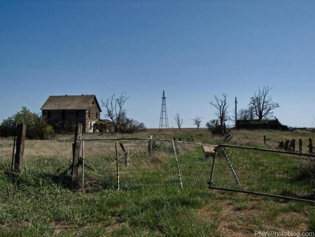 Abandoned Farm outside the Ghost Town of Wheatridge Washington