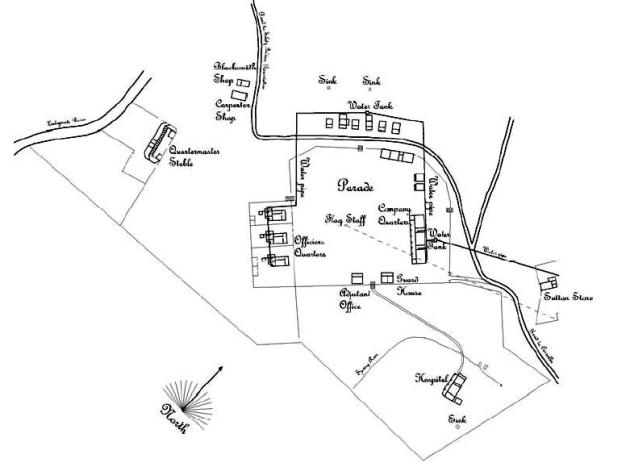 Map of Fort Hoskins