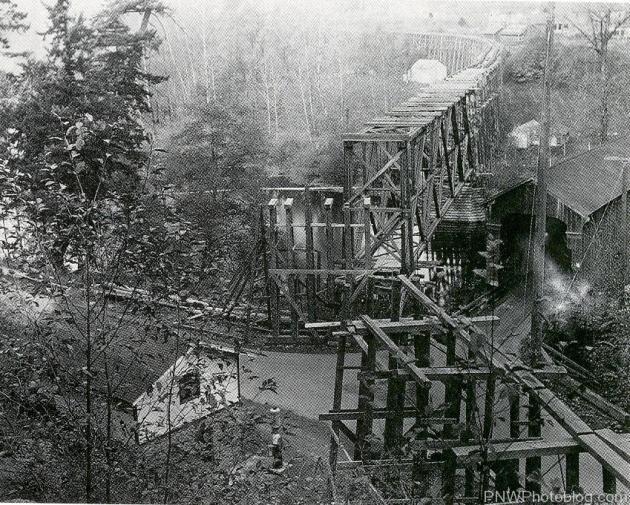 Clackamas and Eastern Railroad Bridge at Carver, Oregon