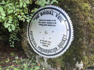 Bridal Veil Cemetery Marker