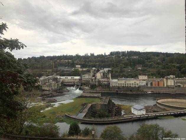 The West Linn Paper Mill, Locks and PGE Power Plant at Willamette Falls