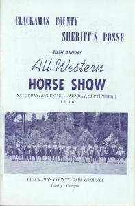 1946 Clackamas County Sheriff's Posse Sixth Annual All Western Horse Show
