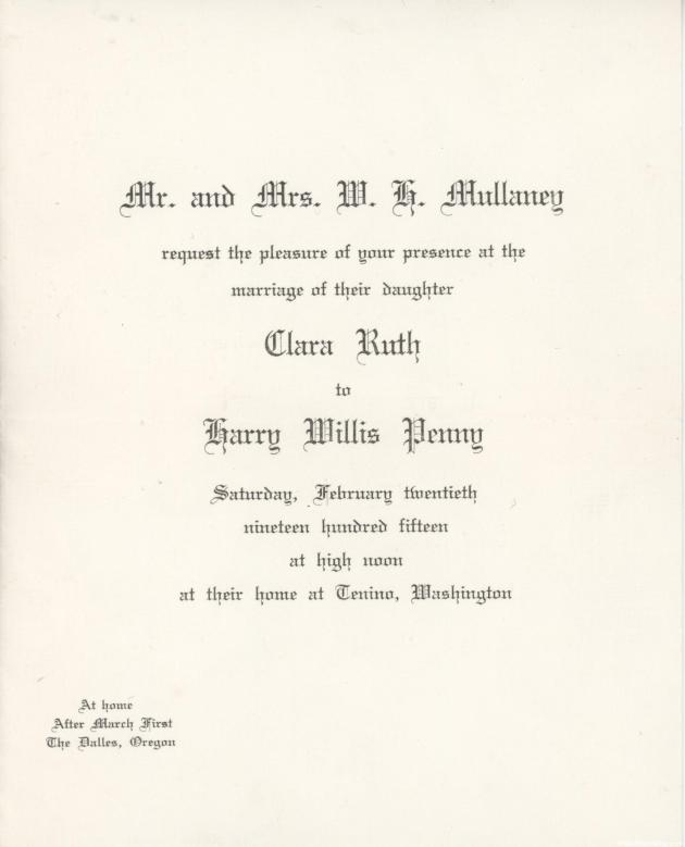 Harry and Clara Penny Wedding Invitation