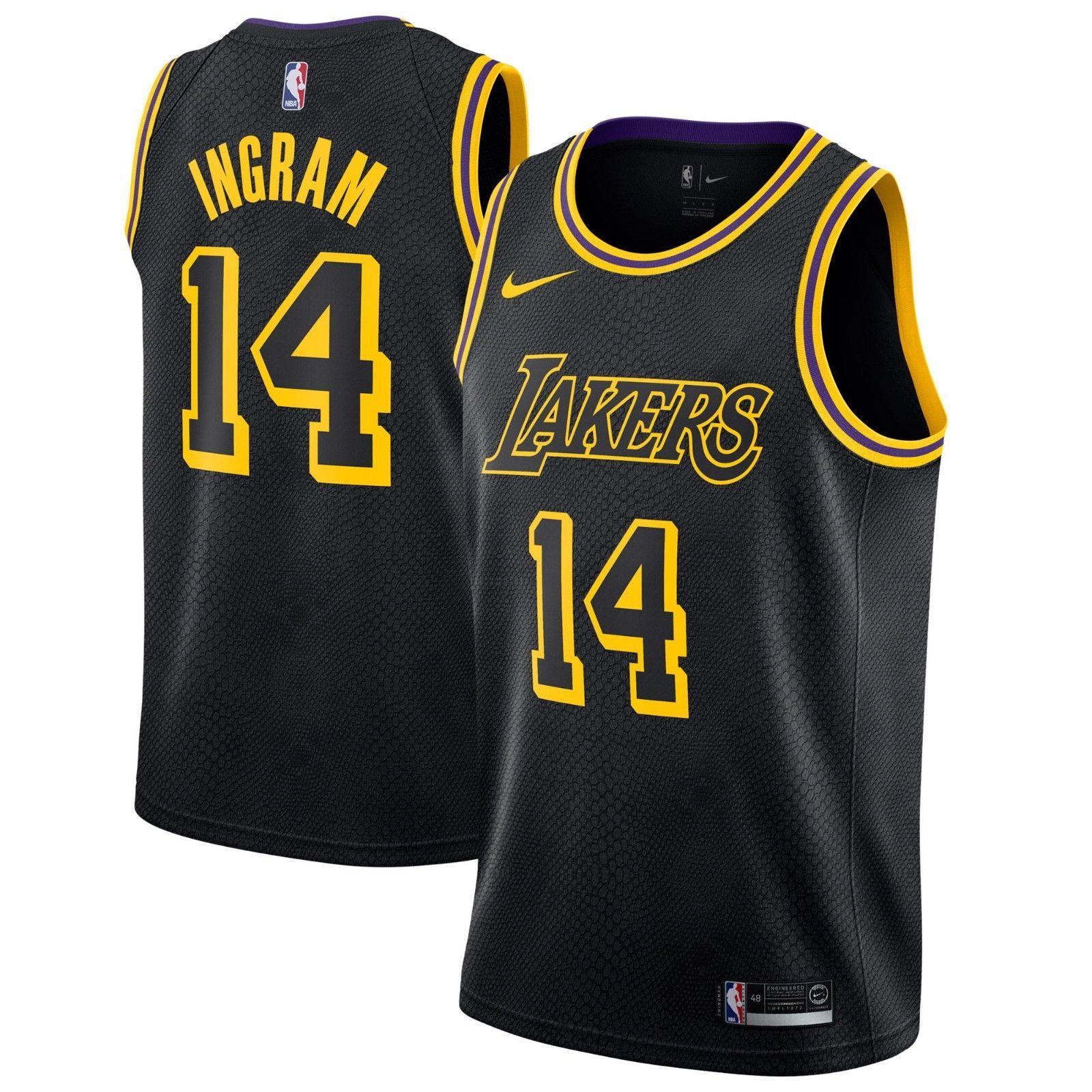 Nike NBA Los Angeles Lakers Brandon Ingram #14 Swingman City Edition ...