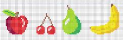 Картинки по клеточкам фрукты