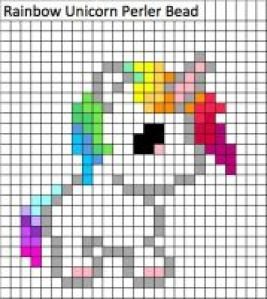 Картинки по клеточкам для девочек - пони, единороги и лошадки