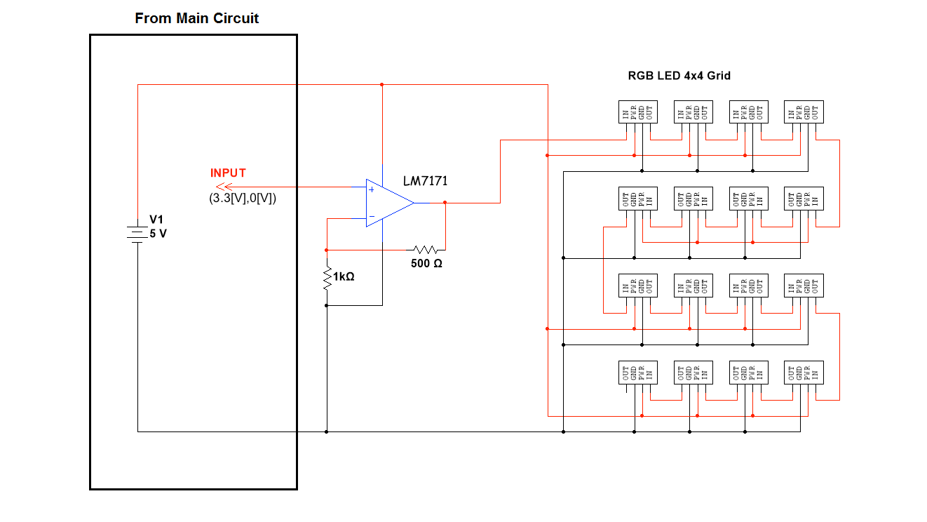 hight resolution of figure 2 circuit diagram illustrating the first row of leds connected to the es388