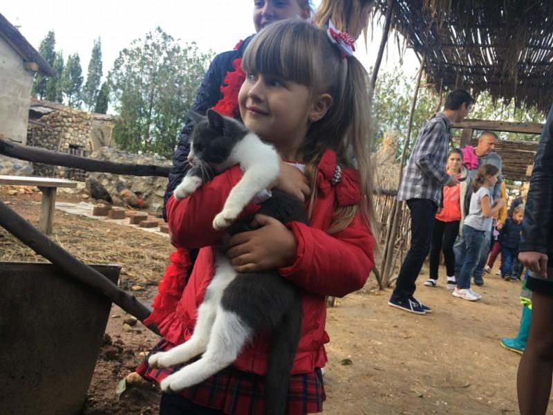 Visita escolares de Donetsk, Ucrania