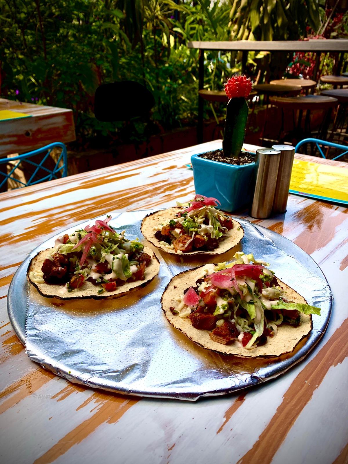 Tres tacos Fresca