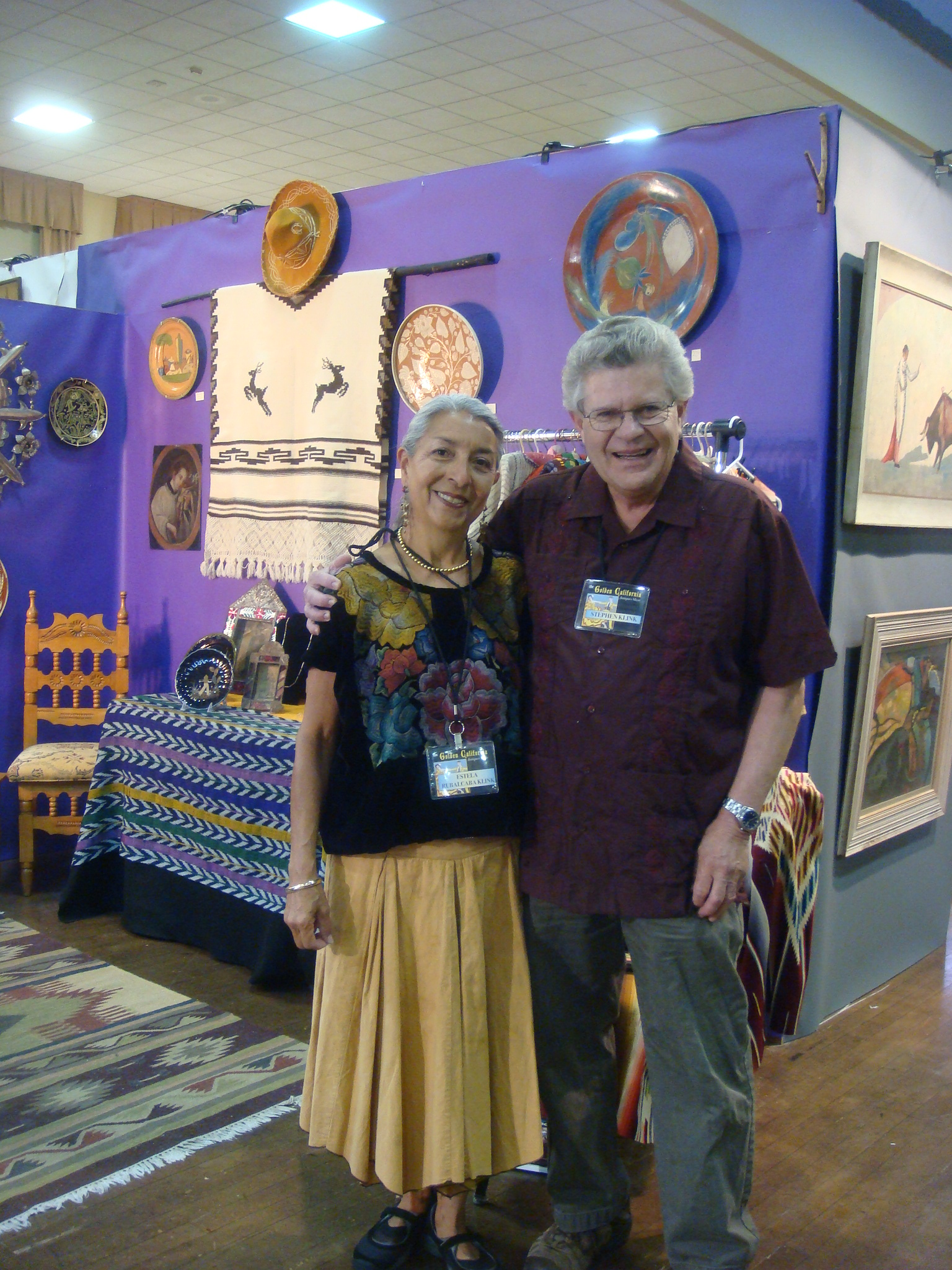 Estela and Stephen at the Golden California Show, Oct. 2011.