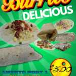 AMVETS Green Burrito Flyer