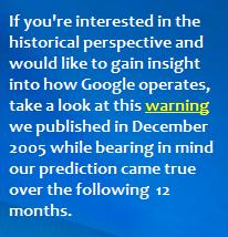 historical warning SEN