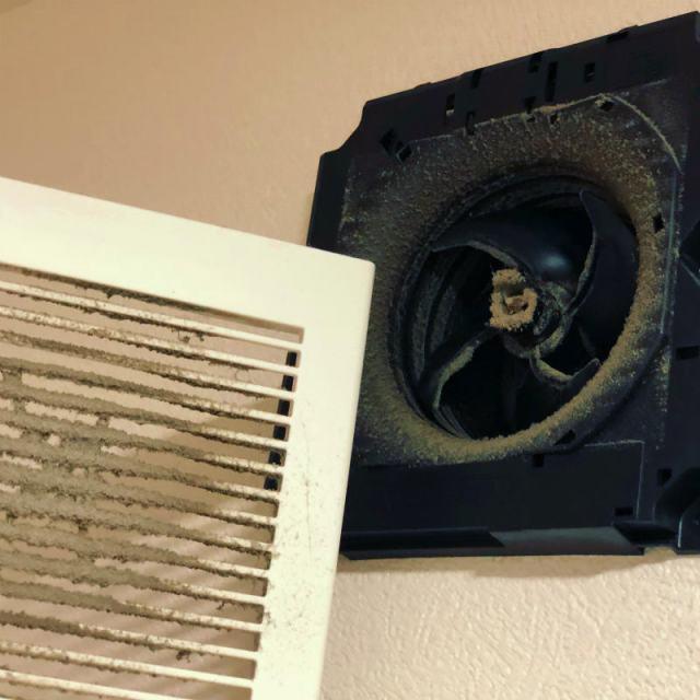 トイレ換気扇の掃除