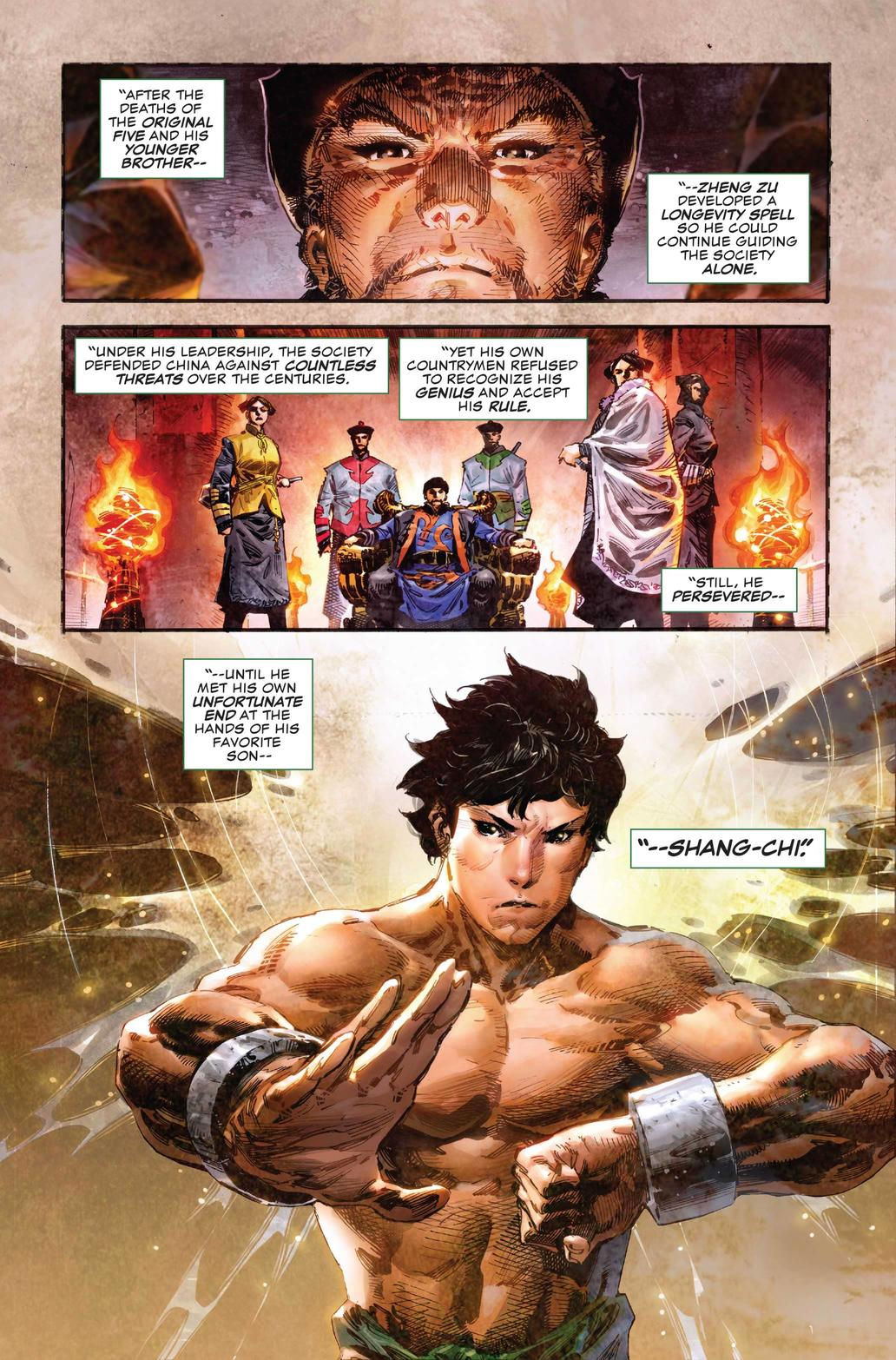 Preview page from Shang-Chi #1 with art by Philip Tan