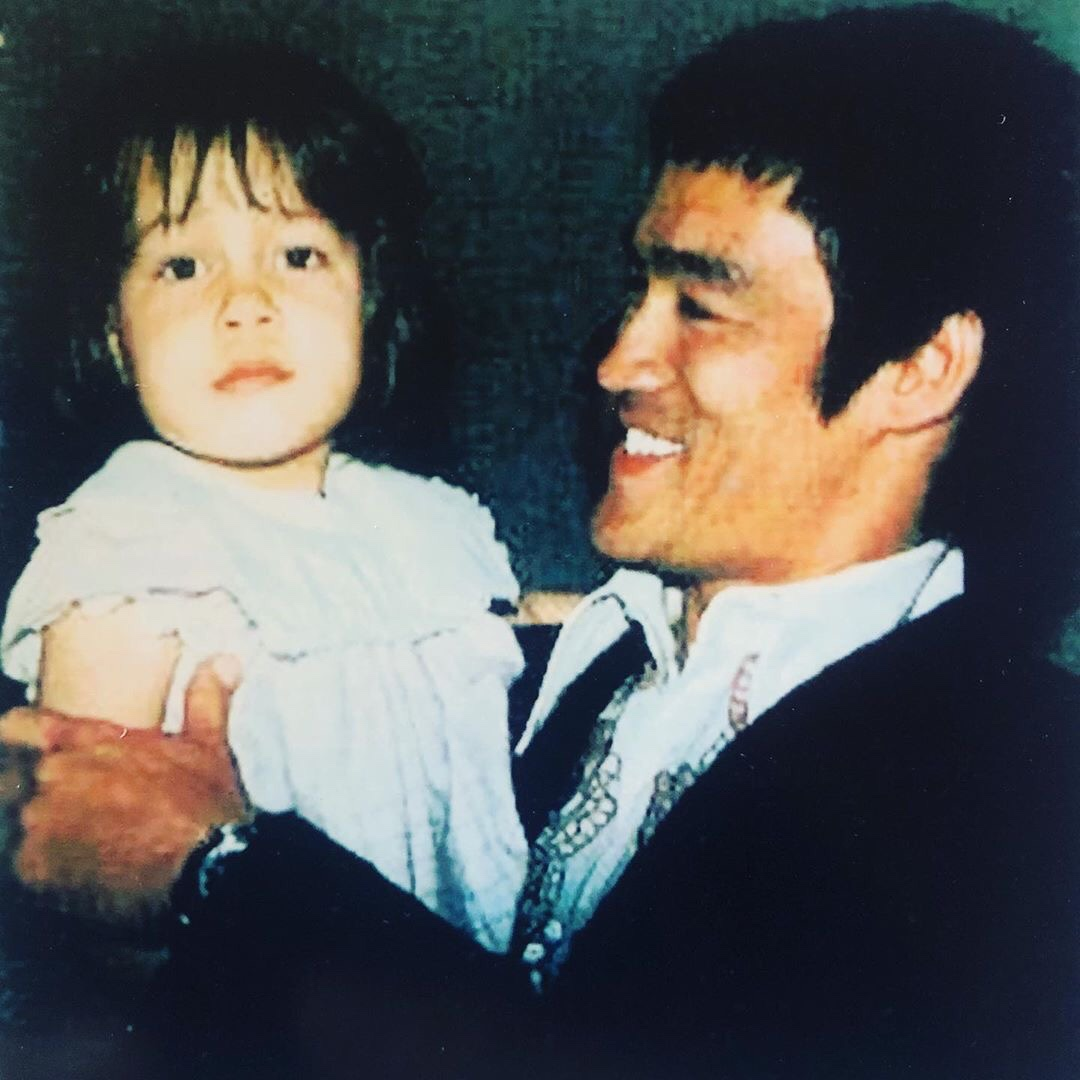 Baby Photo of Shannon and Bruce Lee from Shannon Lee's Instagram
