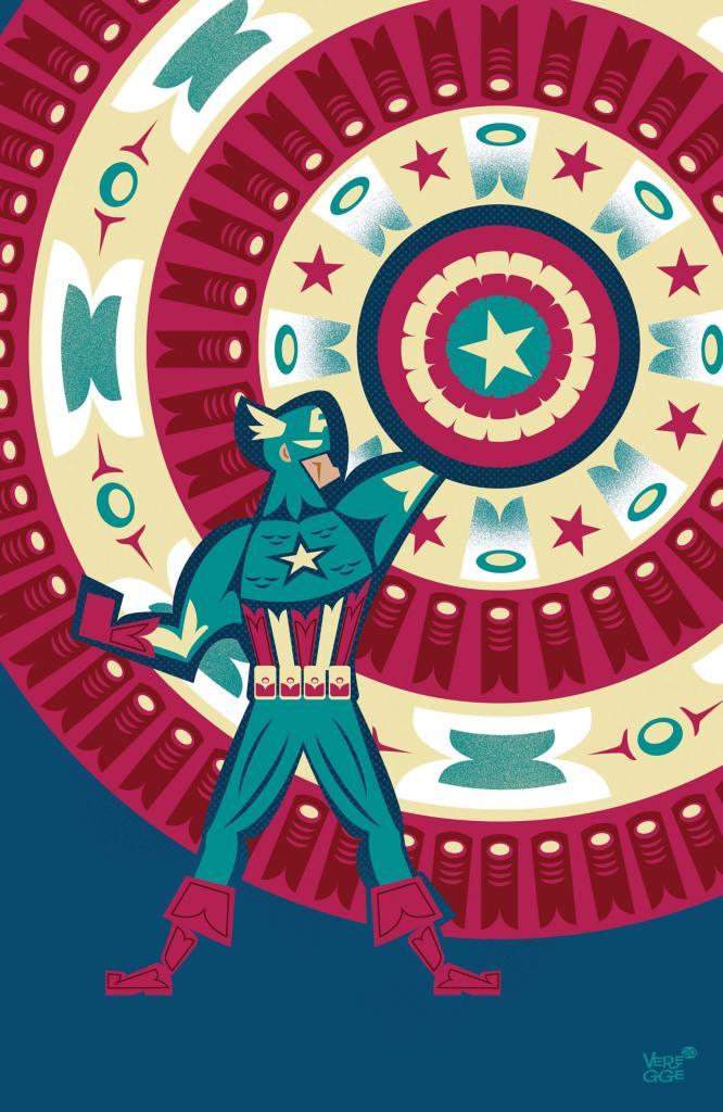 Captain America #25 Native American Tribute Cover by Jeffrey Veregge