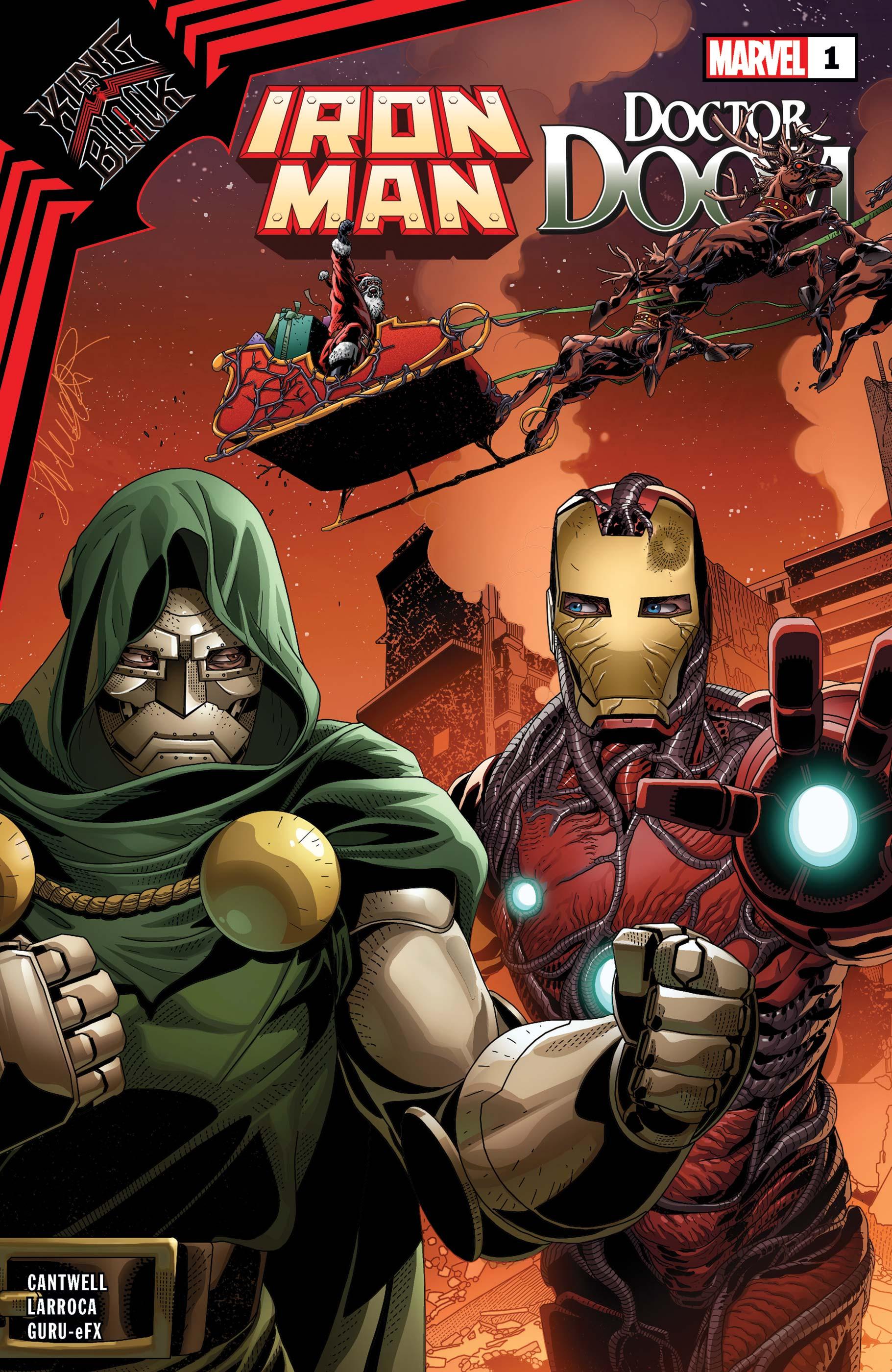 King in Black: Iron Man/Doctor Doom #1 Cover by Salvador Larroca