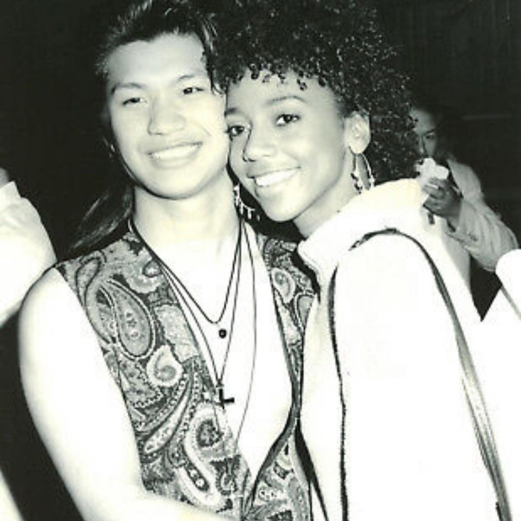 Dustin Nguyen and Holly Robison Peete from their 21 Jump Street Days Photo from Holly Robinson Peete's Instagram