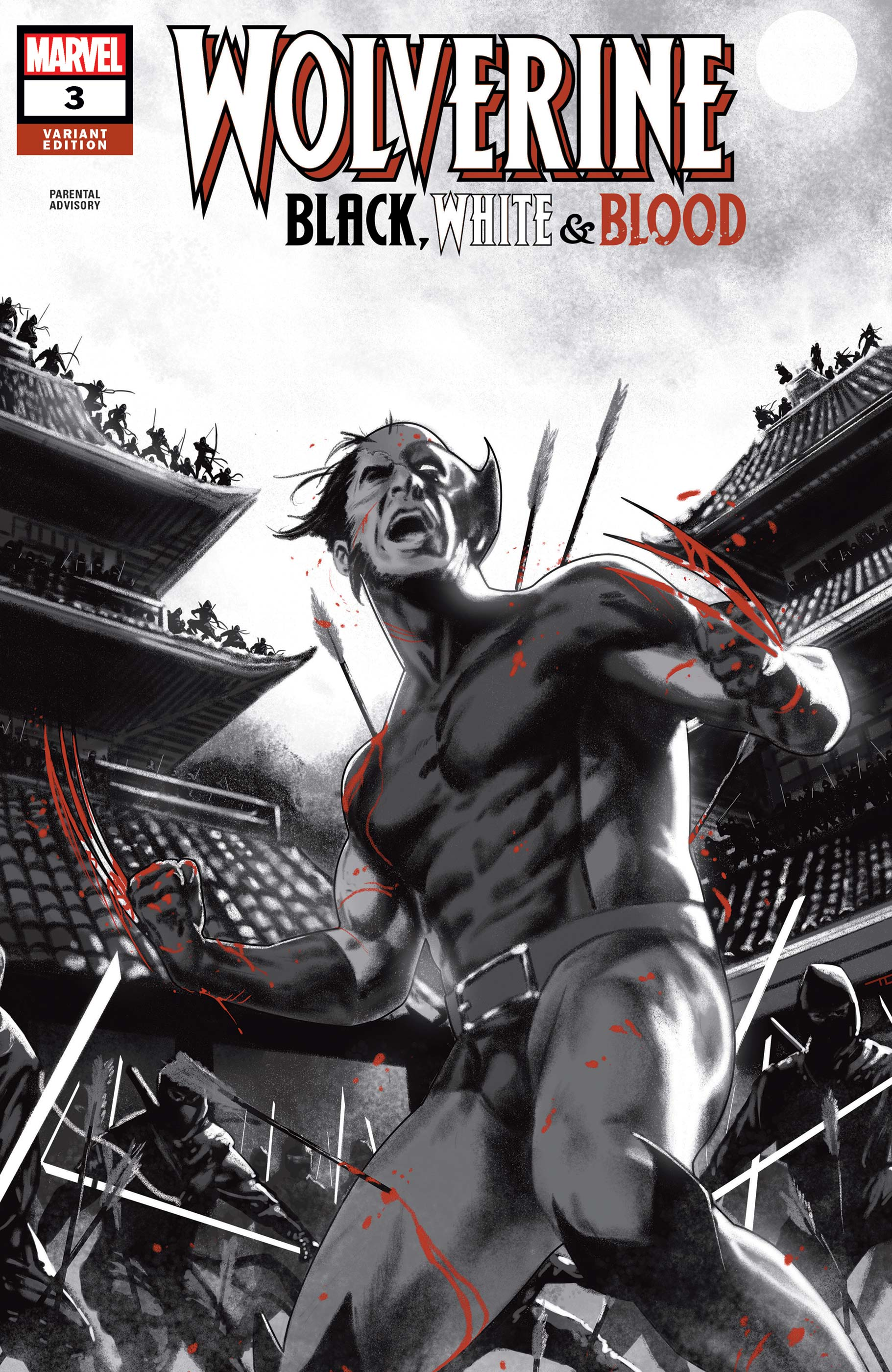 Wolverine: Black, White & Blood #3 Variant Cover by Taurin Clarke