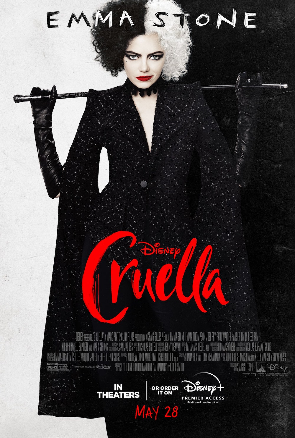 Cruella Starring Emma Stone © 2021 Disney Enterprises, Inc.All Rights Reserved.
