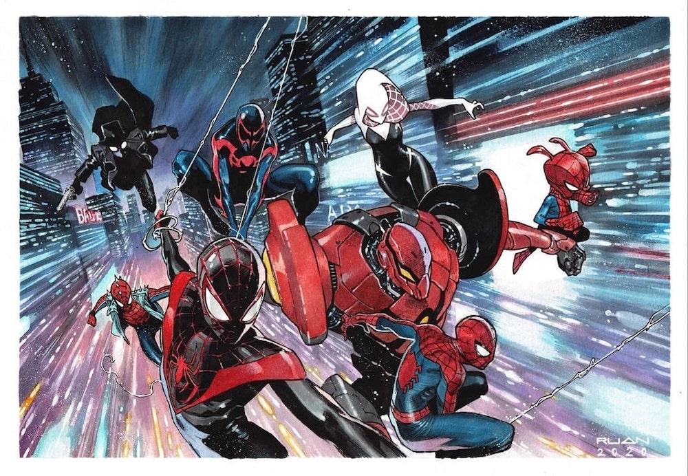 Spider-Verse Art by Dike Ruan
