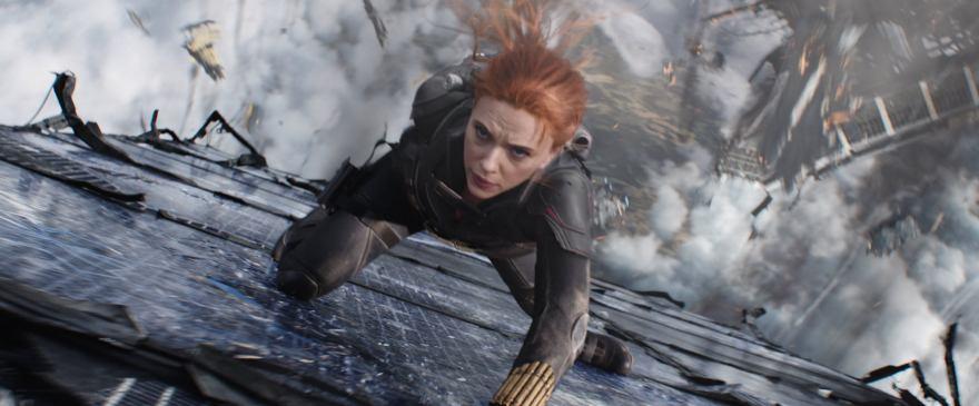 Black Widow/Natasha Romanoff (Scarlett Johansson) in Marvel Studios' BLACK WIDOW, in theaters and on Disney+ with Premier Access. Photo courtesy of Marvel Studios. ©Marvel Studios 2021. All Rights Reserved.