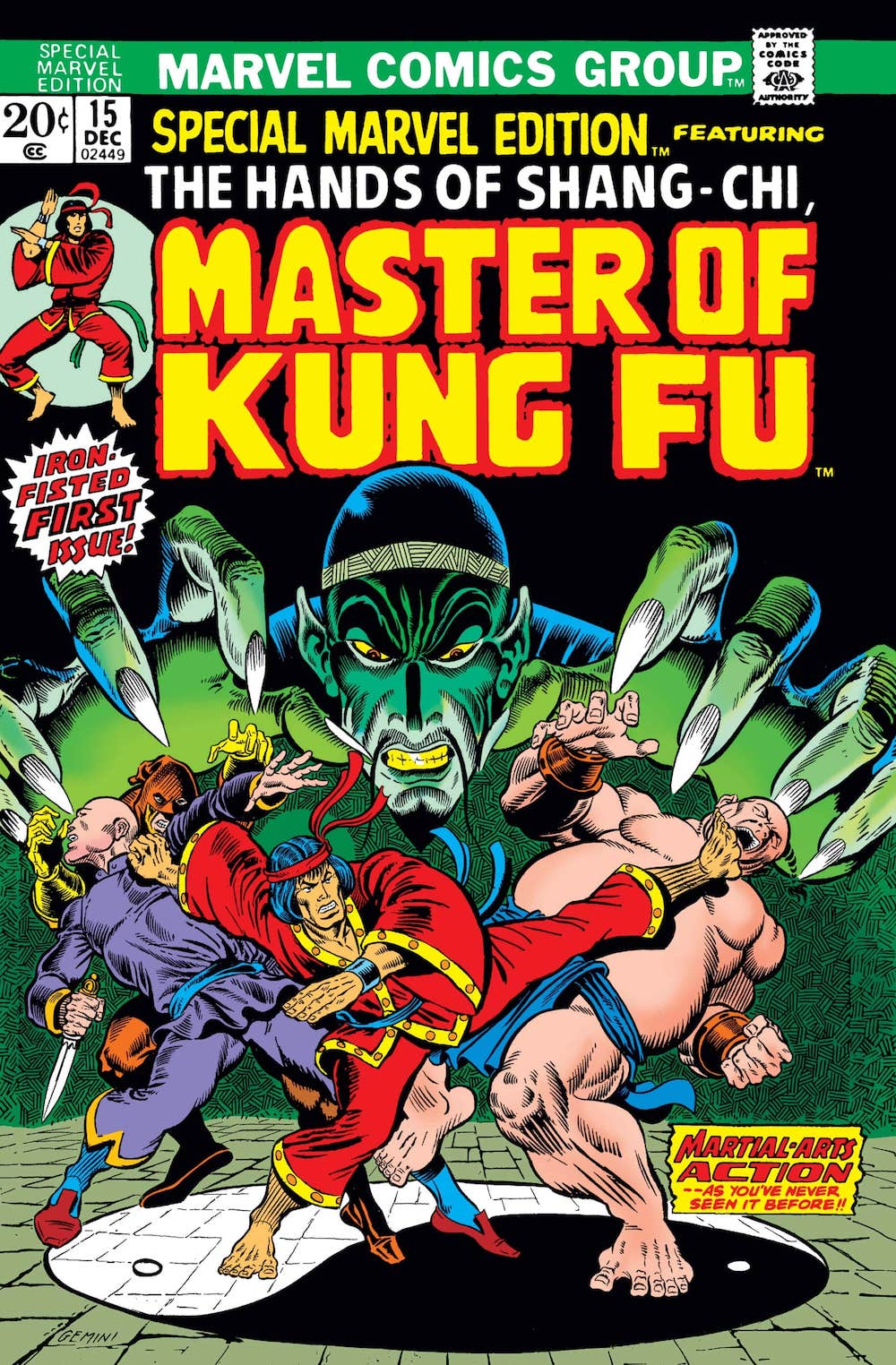 The First Appearance of Shang-Chi in Special Marvel Edition #15