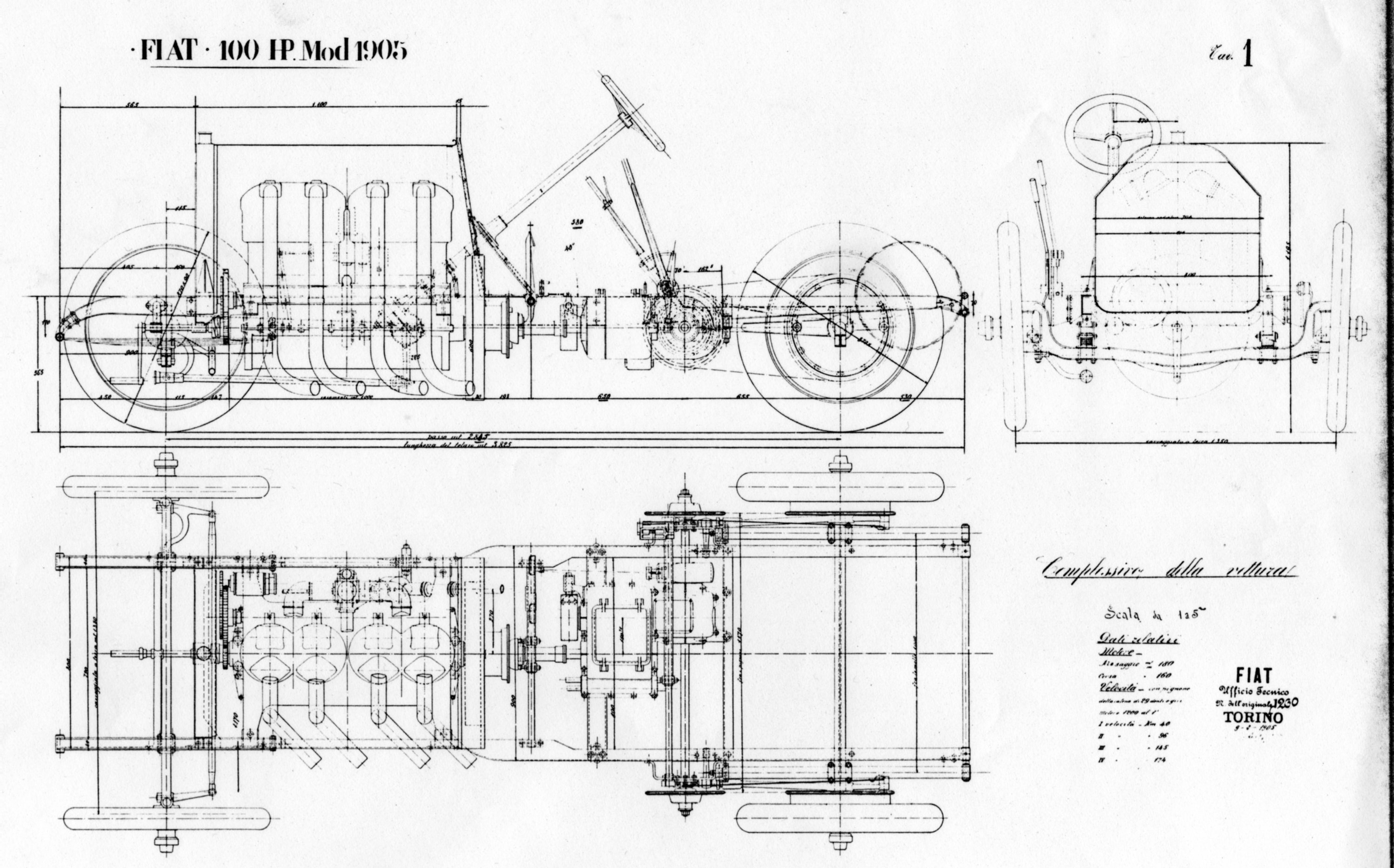 Fiat 100 Hp Drawing Information