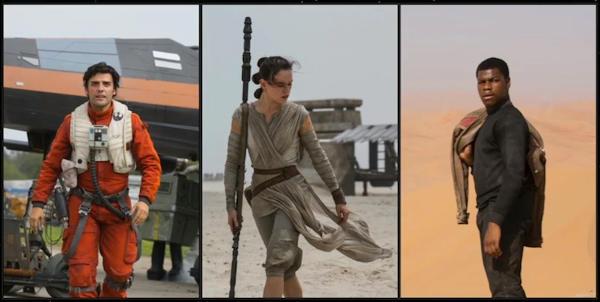 Poe, Rey e Finn