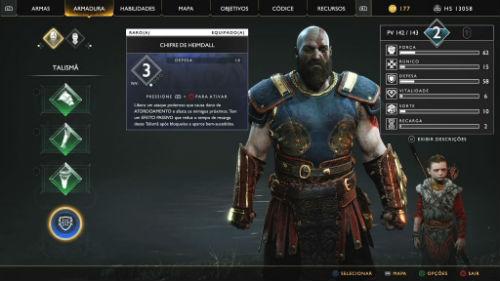 God of War, PS4, imagem do menu