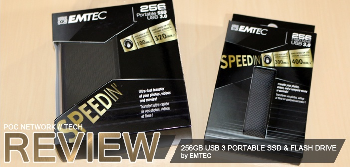 Review: Emtec SpeedIN' 256GB USB 3.0 Portable SSD and Flash Drive