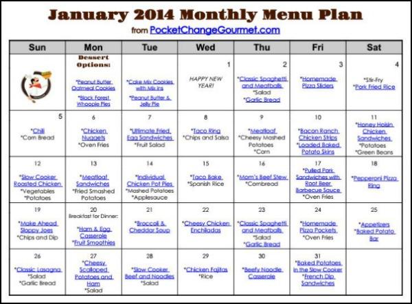 Weekly Menu Plan: January 13 Recipe | Pocket Change Gourmet