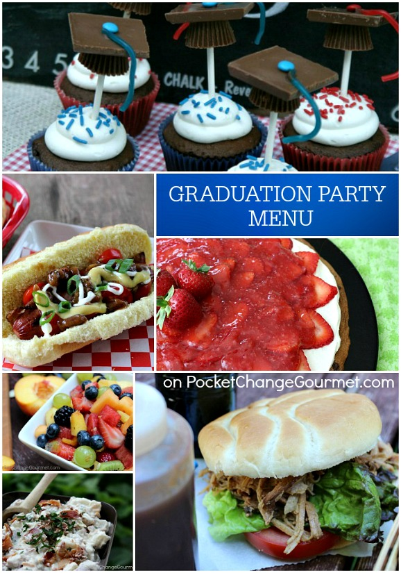 graduation party menu pocket