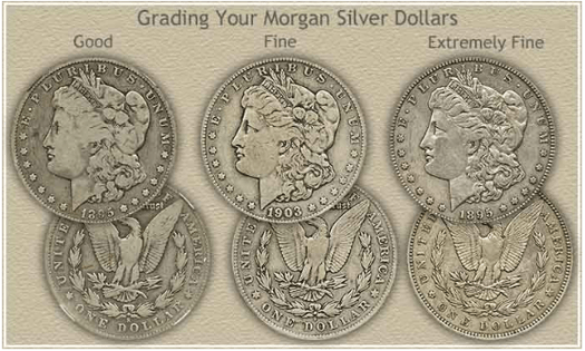 Morgan dollars grade example