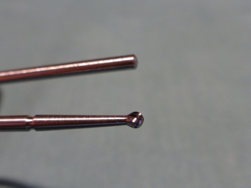Image of rosehead surgical bur.