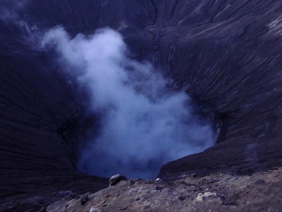 Volcano is smoking!