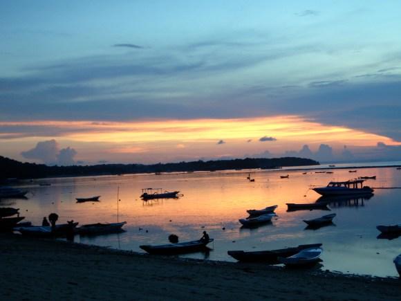 Sunset at Nusa Lembongan