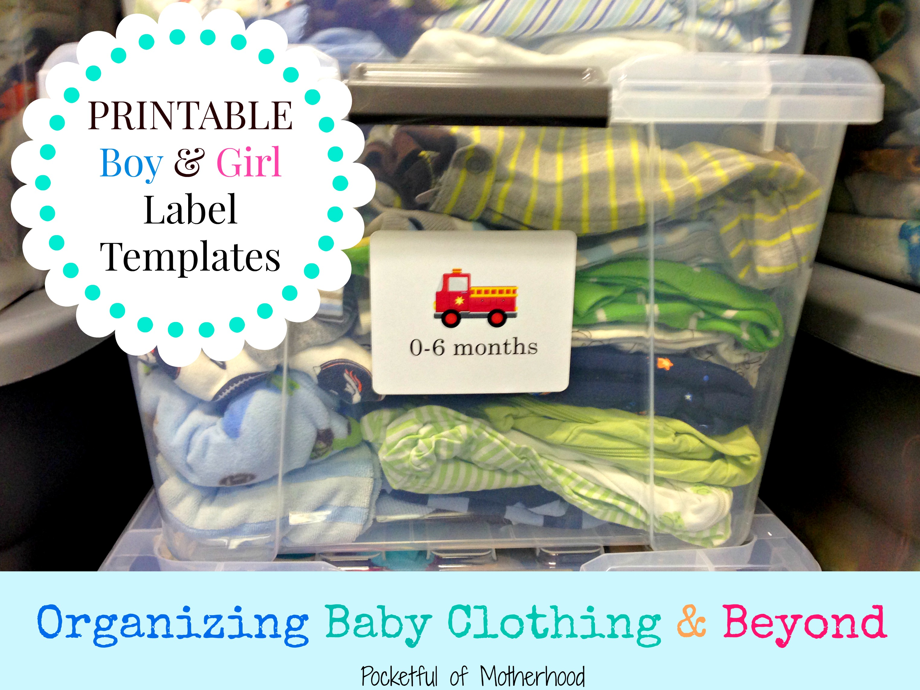 Organizing Baby Clothing And Beyond Free Label Templates