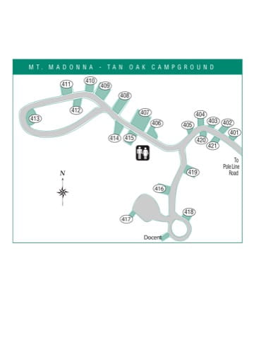 Mt Madonna Campground Map : madonna, campground, Madonna, County