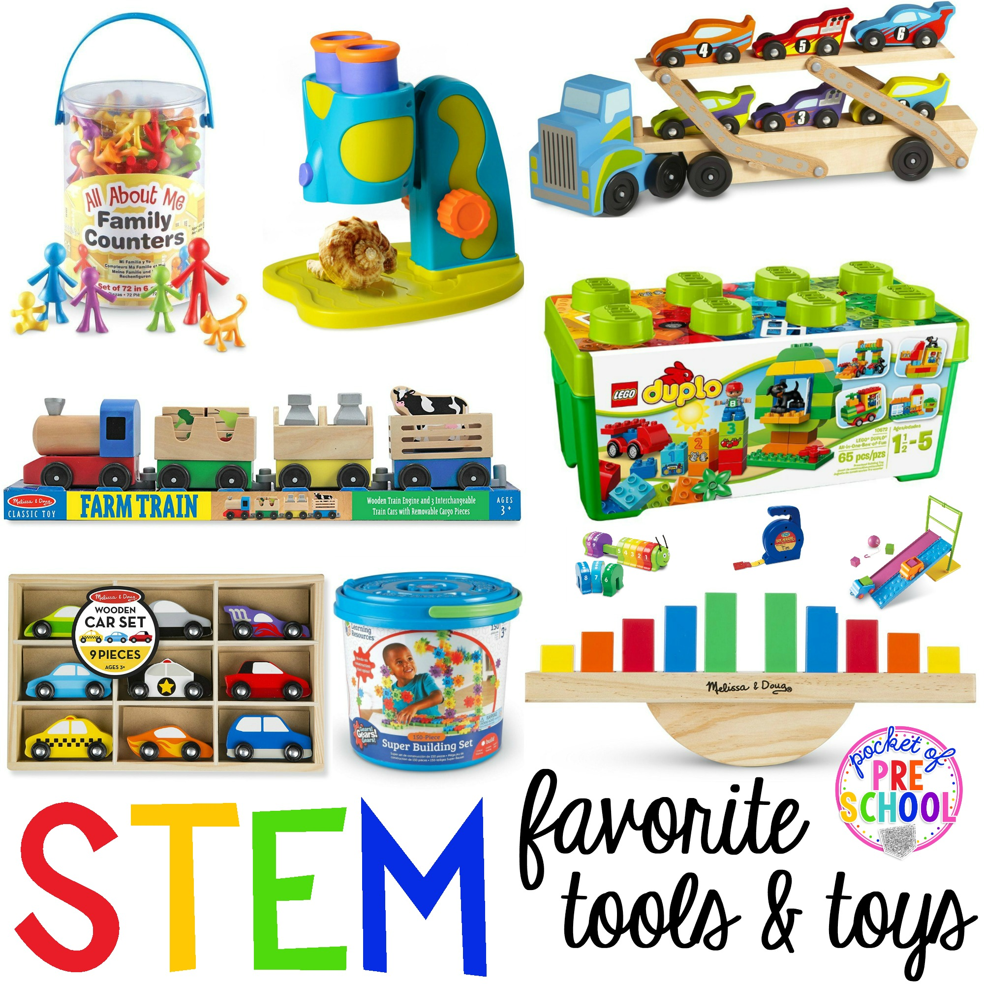 Stem Tools And Toys For Preschool Pre K And Kindergarten